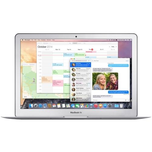 "Apple - MacBook Air 13.3"" Refurbished Laptop - Intel Core i5 - 4GB Memory - 128GB Flash Storage - Silver"