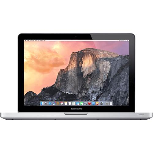 """Apple - Macbook Pro® 15.4"""" Refurbished Laptop - Intel Core i7 - 8GB Memory - 256GB Solid State Drive - Silver"""