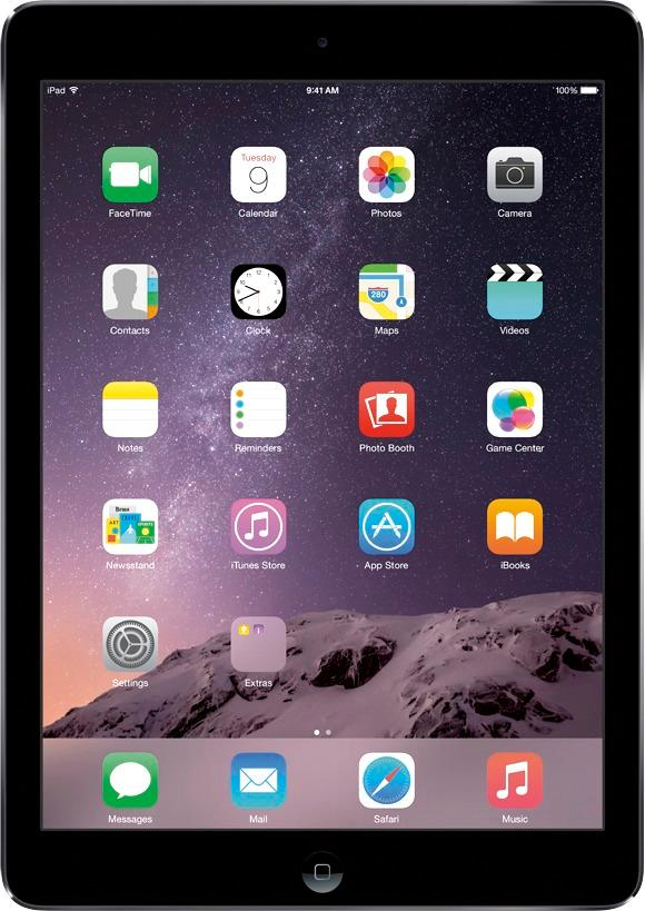 Apple - Refurbished iPad® Air Previous Generation with Wi-Fi + Cellular - 16GB (Verizon Wireless) - Space Gray