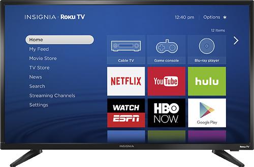 """Insignia™ - 32"""" Class (31.5"""" Diag.) - LED - 720p - Smart - Roku TV"""
