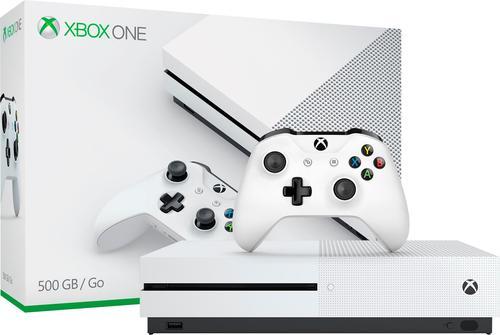 Microsoft - Xbox One S 500GB Console - White