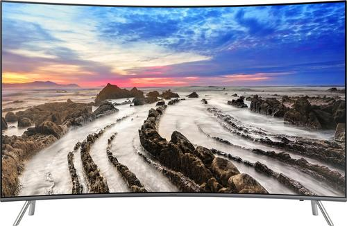 """Samsung - 55"""" Class (54.6"""" Diag.) - LED Curved - 2160p - Smart - 4K Ultra HD TV with High Dynamic Range"""
