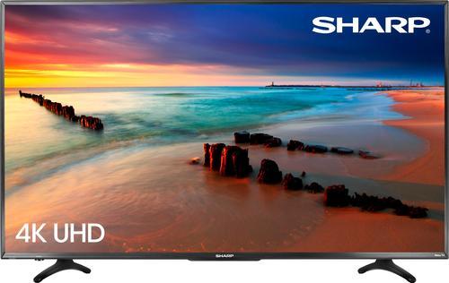 "Sharp - 65"" Class (64.5"" Diag.) - LED - 2160p - Smart - 4K Ultra HD TV Roku TV"