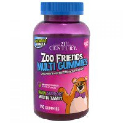 21st Century, 주 프렌즈 복합 구미, 어린이용 복합 비타민 보충제, 구미 150개입