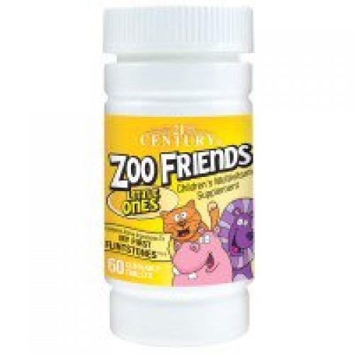 21st Century, 동물원 친구들, 어린이들, 어린이용 멀티비타민 영양제, 60 씹을 수 있는 타블릿