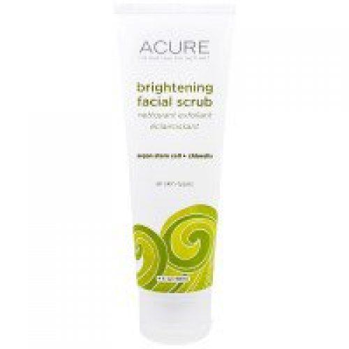 Acure Organics, 미백 얼굴 스크럽, 4 액량 온스 (118 ml)