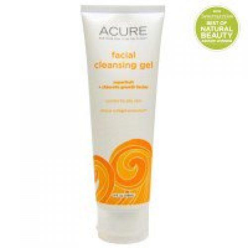 Acure Organics, 페이셜 클렌징 젤, 슈퍼과일 + 클로렐라 성장 인자, 4 fl oz (118 ml)