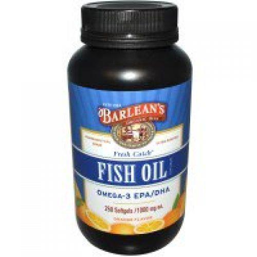 Barlean's, 프레시 캐치, 생선 오일 보충,오메가-3 EPA/DHA, 오렌지 맛, 1000 밀리그램, 250 소프트젤
