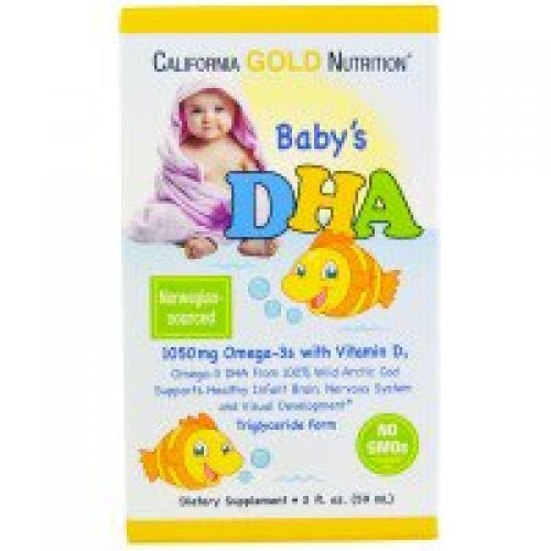 California Gold Nutrition, CGN, Baby's DHA, 1050 mg, Omega-3s with Vitamin D3, 2 fl oz (59 ml)
