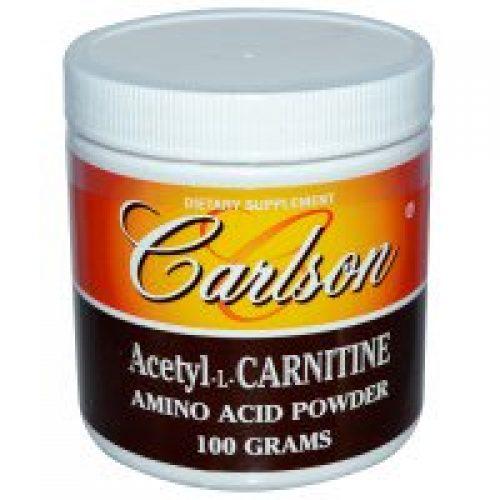 Carlson Labs, Acetyl-L-Carnitine, Amino Acid Powder, 3.53 oz (100 g)