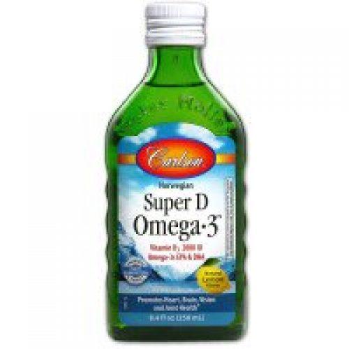 Carlson Labs, 노르웨이지안 슈퍼 D 오메가·3, 레몬맛, 8.4 fl oz (250 ml)