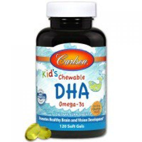 Carlson Labs, 어린이용 츄어블 DHA, 오렌지 맛, 120 소프트젤