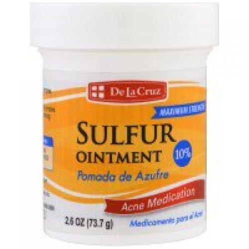 De La Cruz, 유황 연고, 여드름 약, 맥시멈 스트렝스, 2.6 oz (73.7 g)