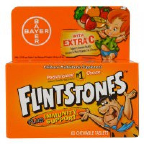 Flintstones, 어린이 멀티비타민 보충제, 과일 향, 60 츄어블 정