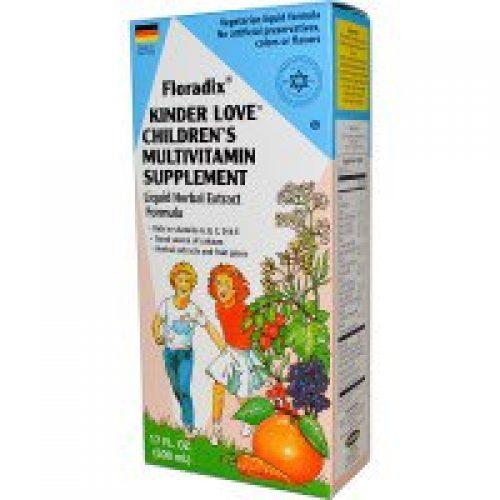 Flora, Floradix, Kinder Love, 어린이용 멀티비타민 보충제, 17 fl oz (500 ml)