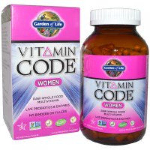 Garden of Life, 비타민 코드, 여성 용, 무가공 자연 식품 복합 비타민, 240 식물성 캡슐