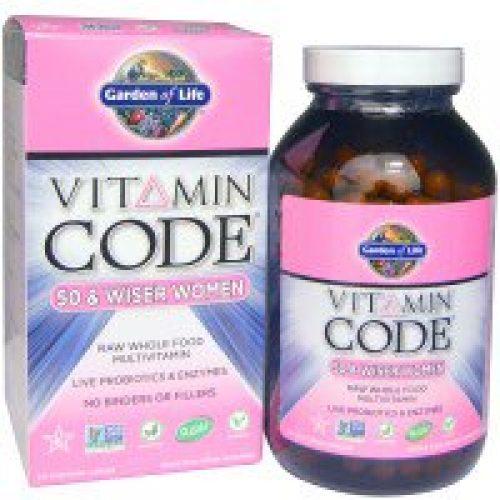 Garden of Life, Vitamin Code, 50 & 더 현명한 여성, 240 베지캡