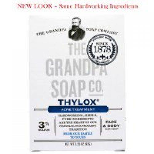 Grandpa's, Thylox 여드름 치료, 페이스 & 바디 바 솝, 3.25 oz (92 g)