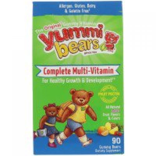 Hero Nutritional Products, Yummi Bears, Complete Multi-Vitamin, Sour, 90 Gummy Bears