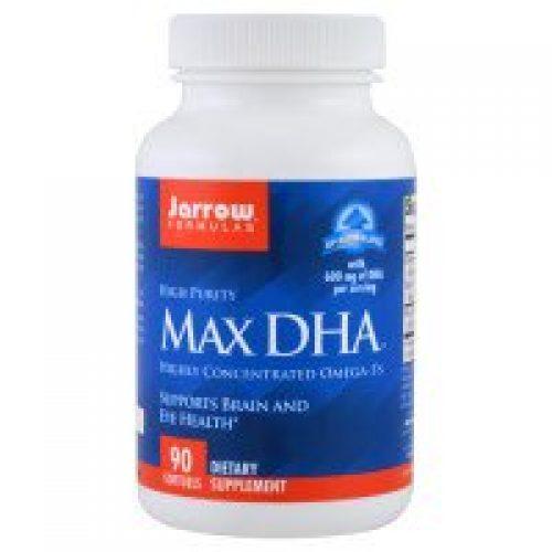 Jarrow Formulas, Max DHA, Omega-3's, 90 Softgels