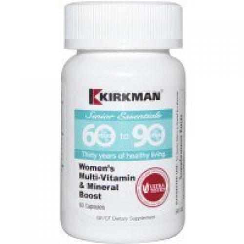 Kirkman Labs, 60세부터 90세까지 노인 필수 영양제, 여성용 멀티비타민 & 미네랄 부스트, 60 캡슐