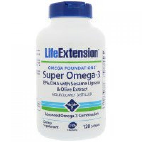 Life Extension, Omega Foundations, 슈퍼 오메가-3, 120 소프트젤