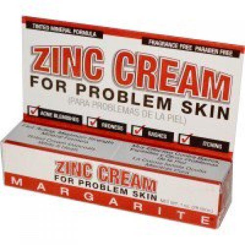 Margarite Cosmetics, 아연 크림, 트러블 피부 전용, 1 oz (28g)
