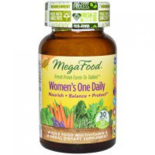 MegaFood, 여성용 하루 한 개 , 전체 식품 복합비타민 & 미네랄, 30 정
