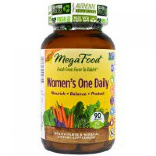 MegaFood, 여성용 하루 한 개 , 전체 식품 복합비타민 & 미네랄, 90 정