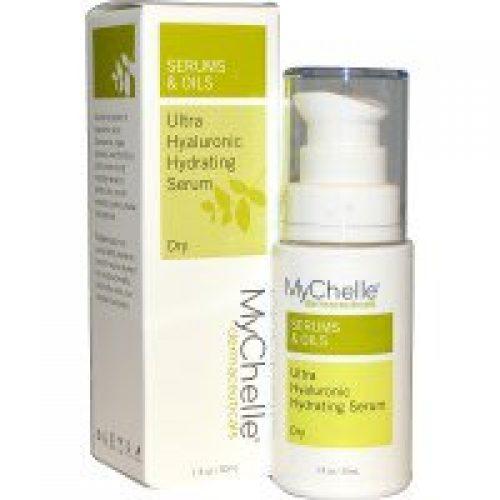MyChelle Dermaceuticals, 울트라 히알루론산 수분 공급 세럼, 건조한 피부, 3단계, 1 액량 온스 (30 ml)