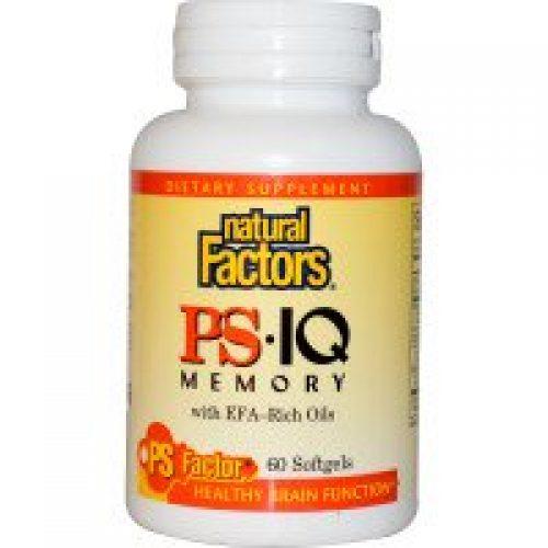 Natural Factors, PS• IQ 메모리 위드 EFA-리치 오일, 60 소프트겔