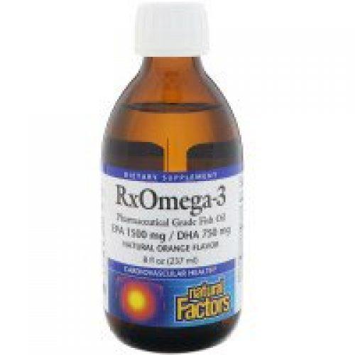 Natural Factors, Rx 오메가-3, 자연 오렌지 맛, 8 fl oz (237 ml)
