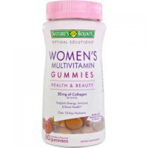 Nature's Bounty, 라즈베리향 여성용 젤리형 멀티비타민 80정
