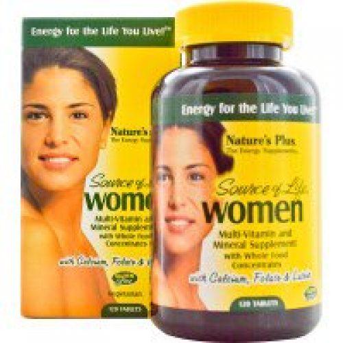 Nature's Plus, 소스 오브 라이프, 여성용, 종합 비타민과 미네랄 보충제, 1 20정