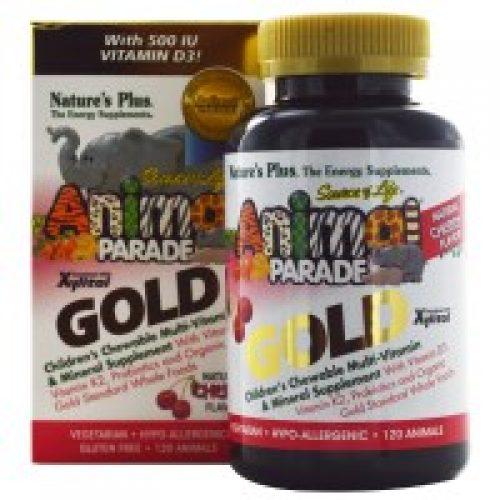 Nature's Plus, 에니멀 퍼레이드 골드, 칠드런즈 츄어블 멀티 비타민 & 미네랄, 천연 체리 맛, 120 개