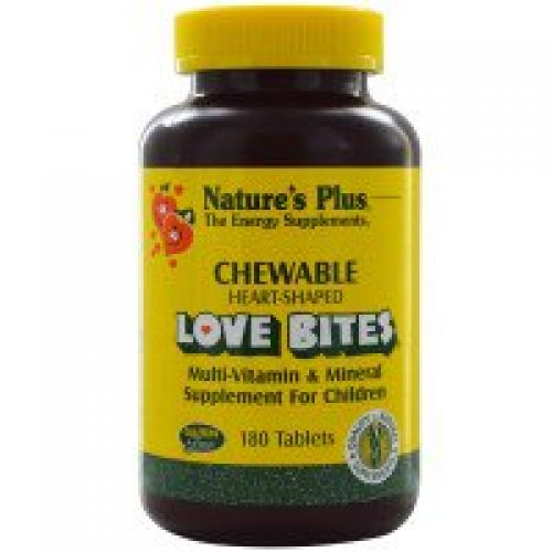 Nature's Plus, 러브 바이트 멀티-비타민 & 미네랄, 어린이용 영양제, 180 츄어블 정