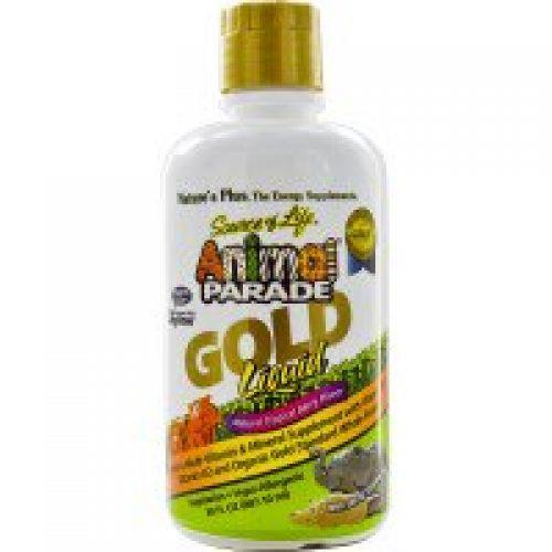 Nature's Plus, 소스 오브 라이프, 애니멀 퍼레이드, 골드 리퀴드, 천연 열대 베리 맛, 30 fl oz (887.10 ml)