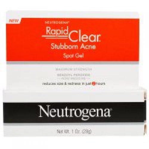 Neutrogena, 래피드 클리어, 안 없어지는 여드름 스팟 겔, 최고 강도, 1 온스 (28 g)