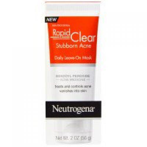 Neutrogena, Rapid Clear, 고질적인 여드름, 데일리 리브 온 마스크, 2 oz (56 g)