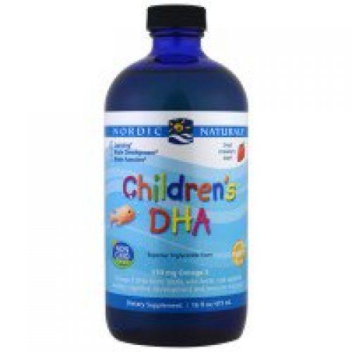 Nordic Naturals, 어린이용 DHA, 딸기맛, 16 액상 온즈 (473 ml)