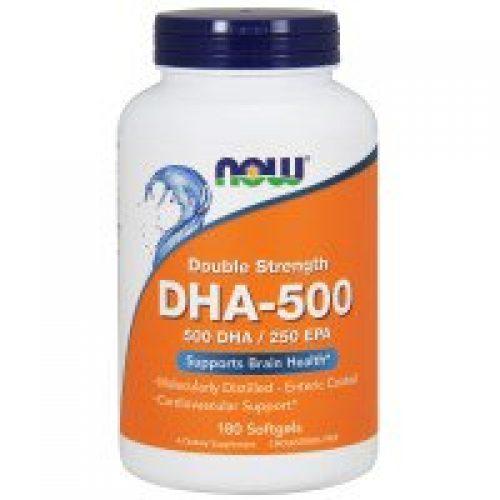 Now Foods, DHA-500/EPA-250, 이중 강화, 180 소프트젤