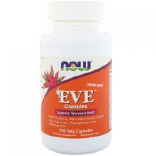 Now Foods, Eve 캡슐, 고품질의 여성 종합비타민, 철분 없음, 식물성 캡슐 120정