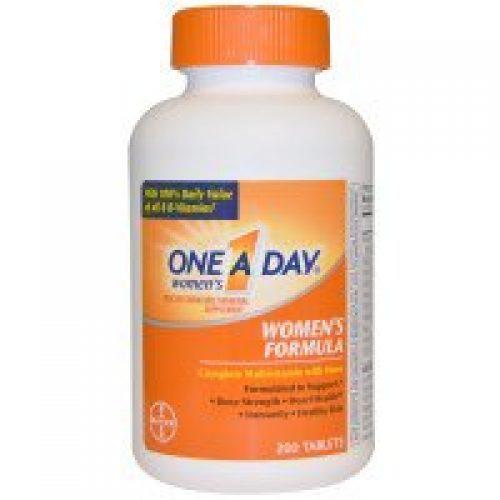 One-A-Day, 여성용 포뮬라, 멀티비타민/멀티미네랄 영양제, 200 타블릿