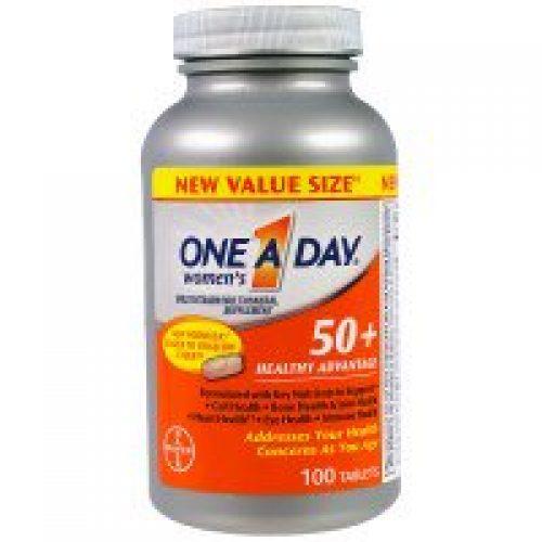 One-A-Day, 50세 이상 여성, 종합 비타민, 건강에 도움, 100정