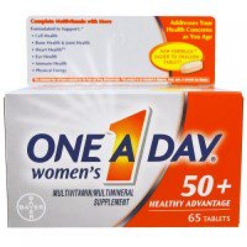 One-A-Day, 하루 한번, 50세 이상 여성, 건강에 도움, 65 정