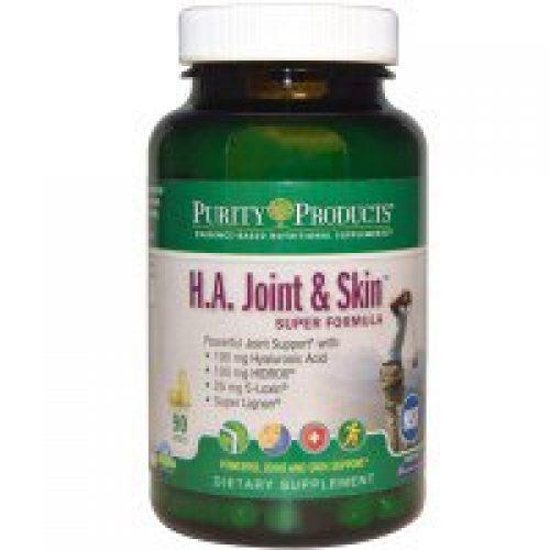 Purity Products, H.A. 관절 및 피부 슈퍼 포물러, 90캡슐