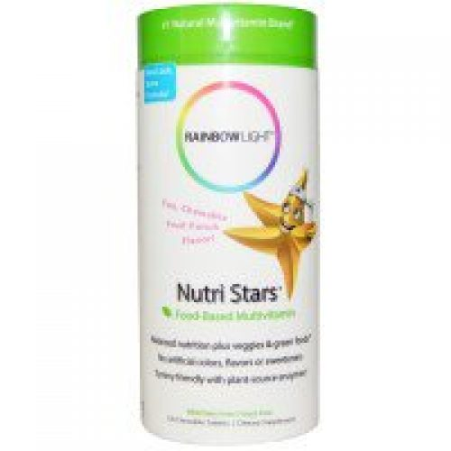 Rainbow Light, 뉴트리 스타, 식물-기반 복합비타민, 후르츠펀치 맛, 츄어블 알약 120정