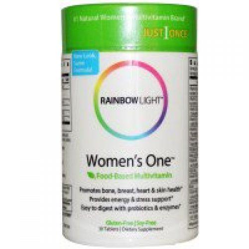 Rainbow Light, 저스트 원스, 우먼스 원, 음식 기반 멀티비타민, 30 정
