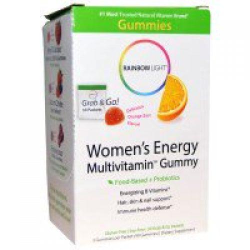Rainbow Light, 여성 에너지 멀티비타민 거미, 맛있는 오렌지 껍질향, 30 팩