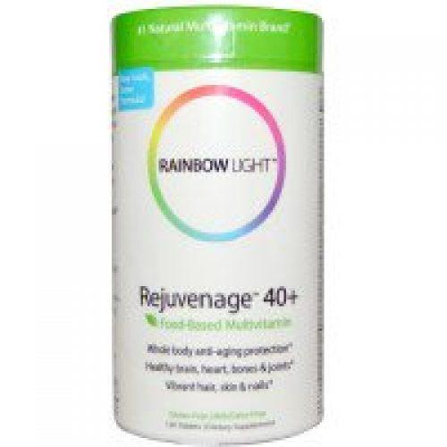 Rainbow Light, 리주베니지 40+, 푸드-베이스드 멀티비타민, 120 정